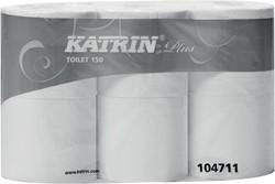 Katrin toiletpapier Plus, 4-laags, 150 vel per rol, pak van 6 rollen
