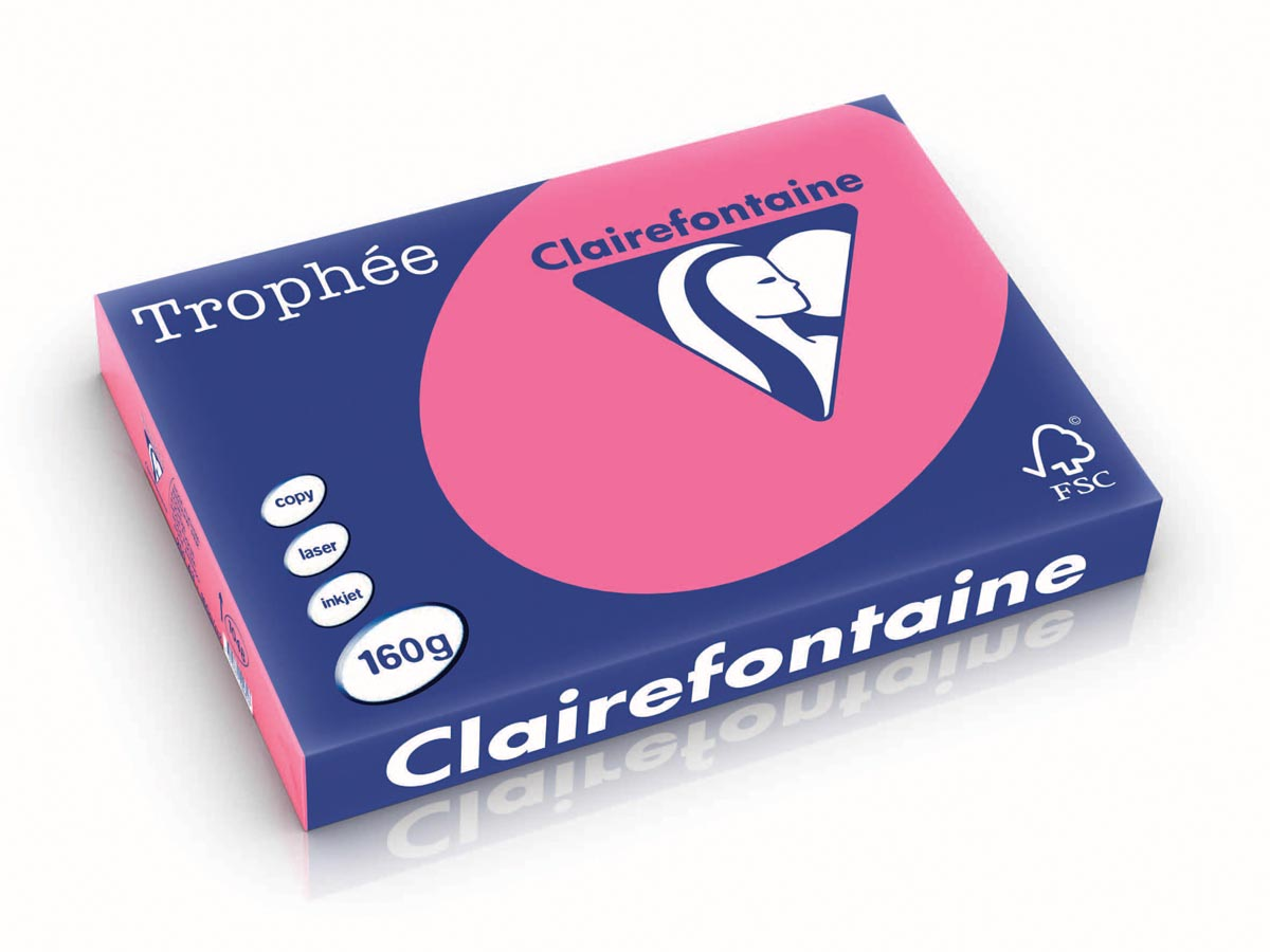 Clairefontaine Troph�e Intens A3 fuchsia, 160 g, 250 vel