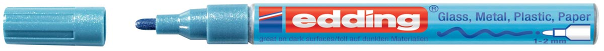 Edding glanslakmarker e-751 CR lichtblauw metallic