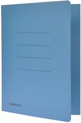 Class'ex dossiermap, 3 kleppen ft 18,2 x 22,5 cm (voor ft schrift), blauw