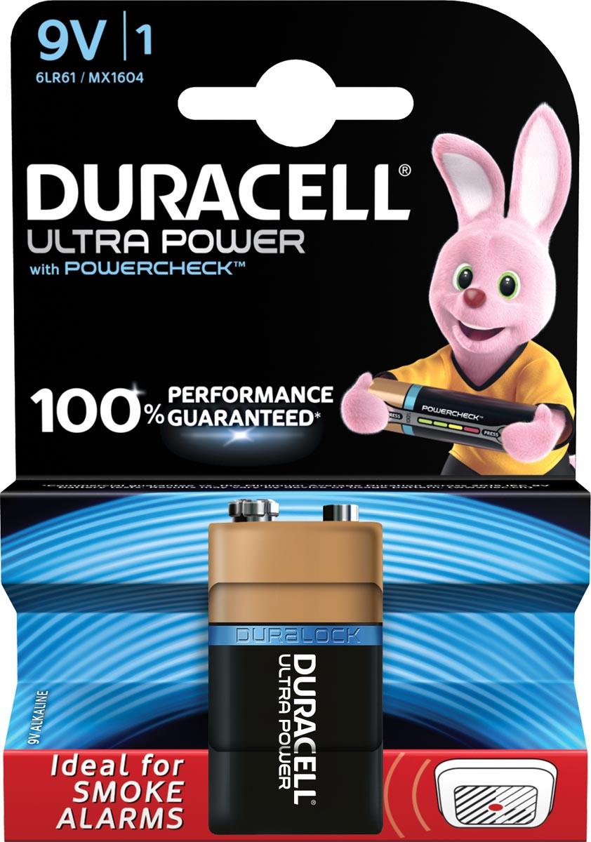 Duracell batterij Ultra Power 9V, op blister