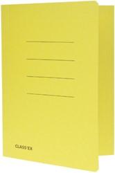 Class'ex dossiermap, 3 kleppen ft 18,2 x 22,5 cm (voor ft schrift), geel