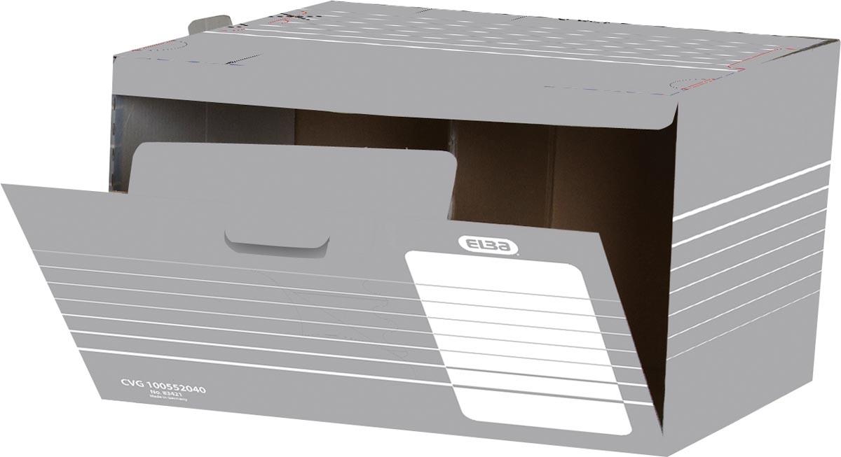 Elba archiefcontainer, ft 45,5x35,5x27 cm, grijs en wit