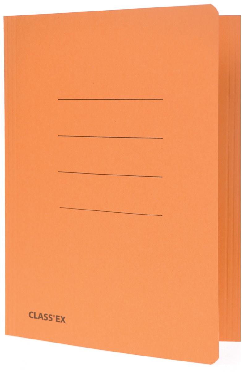 Class'ex dossiermap, 3 kleppen ft 18,2 x 22,5 cm (voor ft schrift), oranje