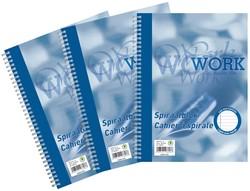 Work, spiraalschrift, ft A4, 70 g, gelijnd, 200 bladzijden