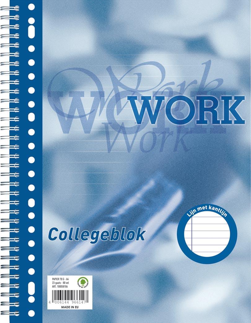 Work collegeblok, ft A4, gelijnd, 80 vel