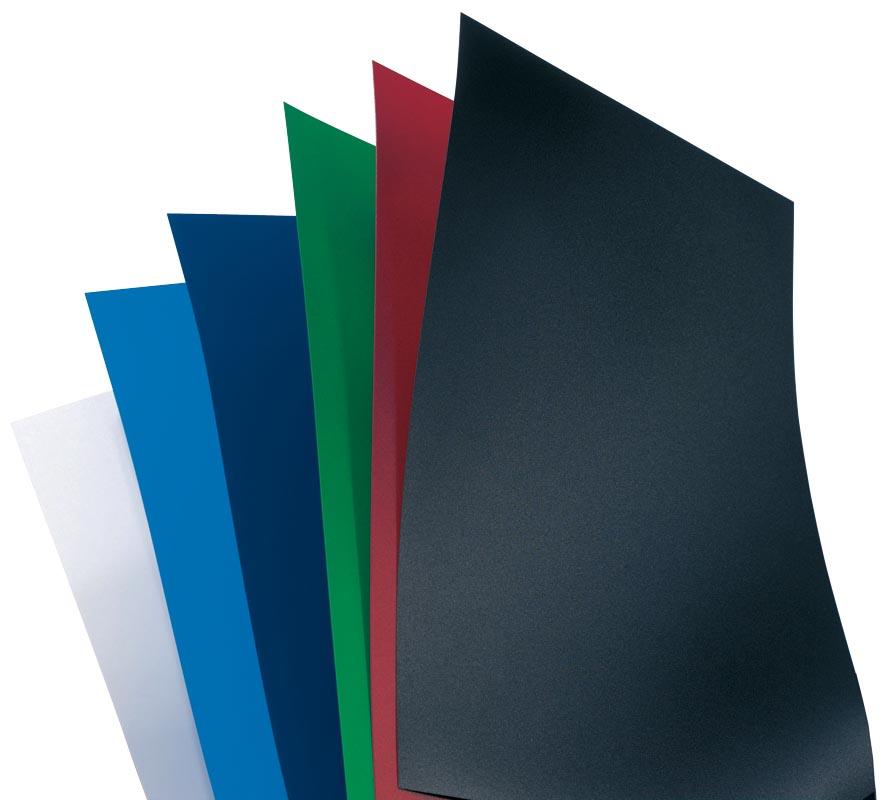 GBC omslagen PolyOpaque ft A4, pak van 100 stuks, 300 micron, blauw