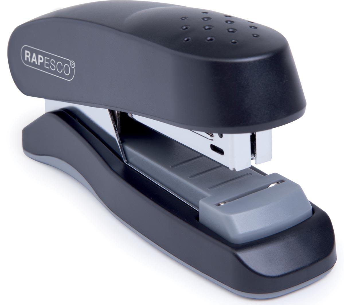 Rapesco flat clinch half strip nietmachine zwart, op blister-2