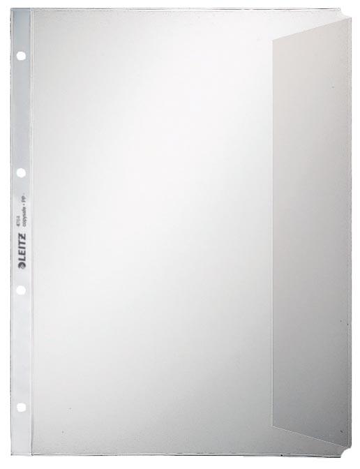 Leitz premium showtas met klep, ft A4, PP folie, 11-gaatsperforatie , transparant, pak van 50