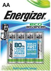 Energizer batterijen Eco Advanced AA, blister van 4 stuks