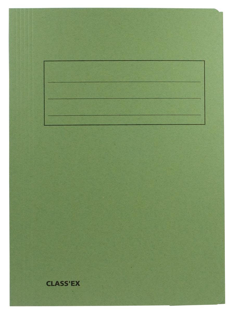 Class'ex dossiermap, 3 kleppen ft 23,7 x 34,7 cm (voor ft folio), groen