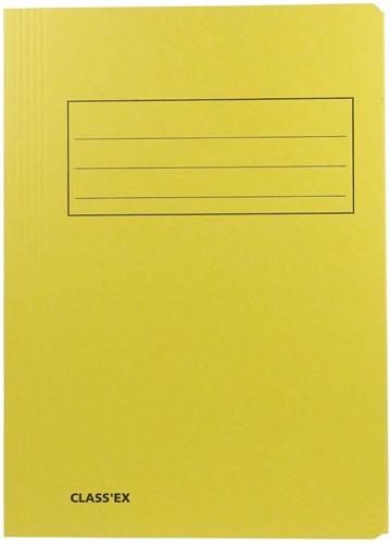 Class'ex dossiermap, 3 kleppen ft 23,7 x 34,7 cm (voor ft folio), jaune
