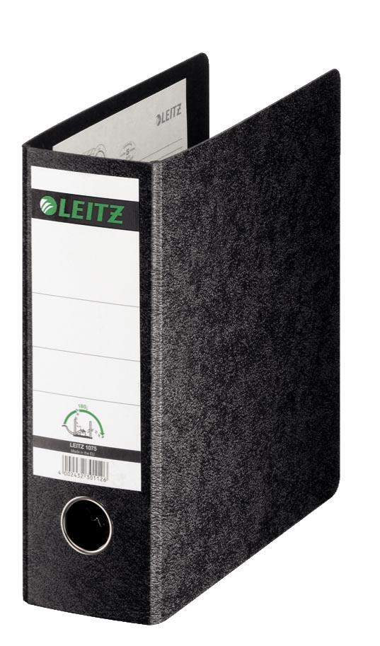 Leitz 180° kartonnen ordner ft A5, rug van 7,7 cm, zwart