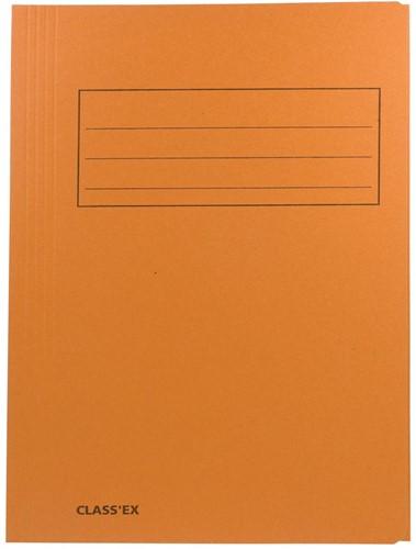 Class'ex dossiermap, 3 kleppen ft 23,7 x 34,7 cm (voor ft folio), orange