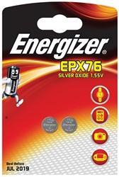 Energizer knoopcel EPX76, blister van 2 stuks