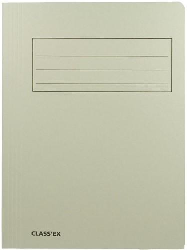 Class'ex dossiermap, 3 kleppen ft 23,7 x 34,7 cm (voor ft folio), gris
