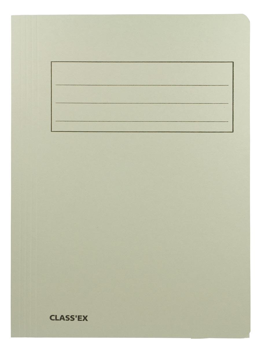 Class'ex dossiermap, 3 kleppen ft 23,7 x 34,7 cm (voor ft folio), grijs