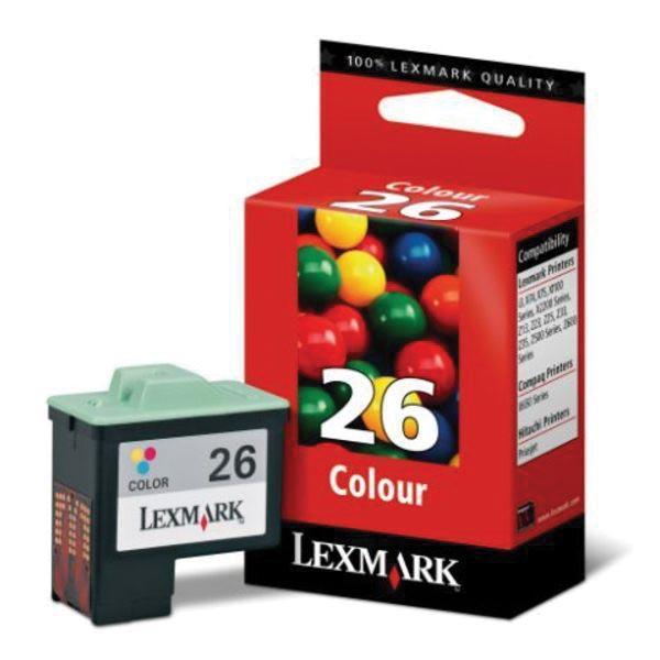 Lexmark inktcartridge 26, 3 kleuren, 275 pagina's - OEM: 10N0026E