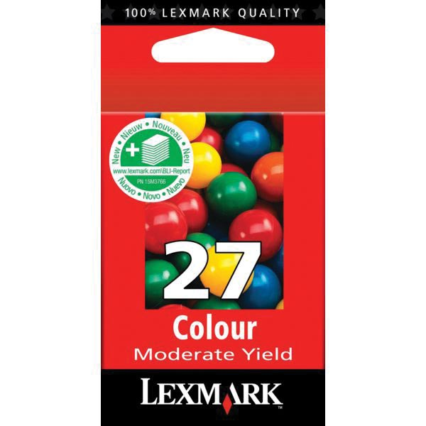 Lexmark inktcartridge 27, 3 kleuren, 229 pagina's - OEM: 10NX227E