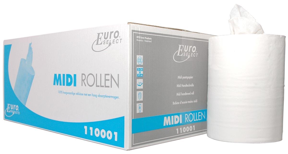 Europroducts handdoekrol Midi, 1-laags, doos van 6 stuks