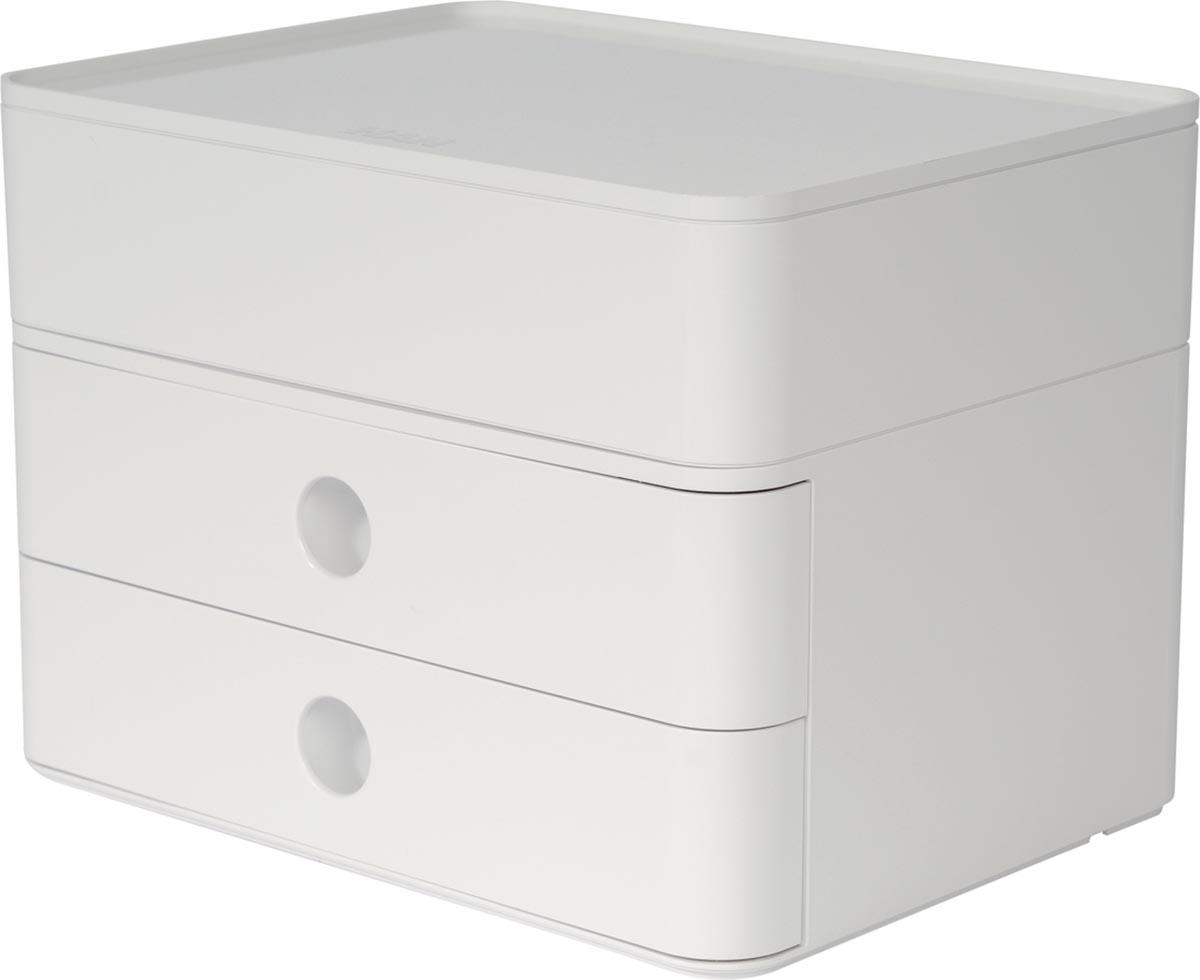 Han ladenblok Allison, smart-box plus met 2 laden en organisatiebak, glanzend wit