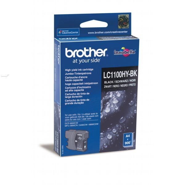 Brother inktcartridge zwart, 900 pagina's - OEM: LC-1100HYBK