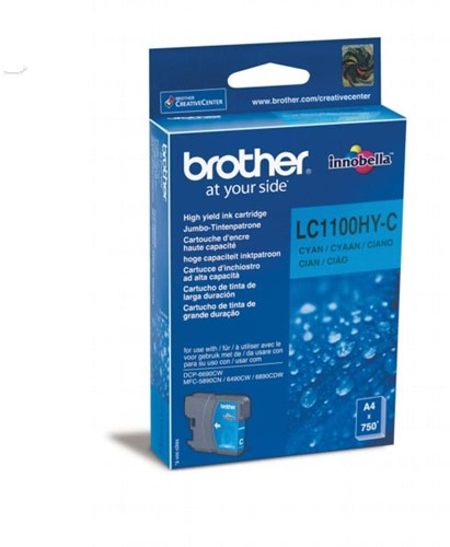 Brother inktcartridge, 750 pagina's, OEM LC-1100HYC, cyaan