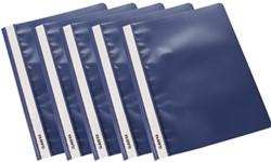 Class'ex snelhechtmap donkerblauw, pak van 5 stuks