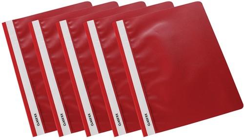 Class'ex snelhechtmap rood, pak van 5 stuks
