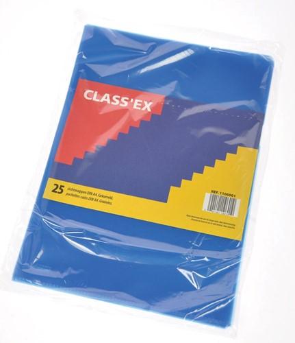 Class'ex L-map, gekorreld, blauw, pak van 25 stuks