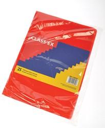 Class'ex L-map, gekorreld, rood, pak van 25 stuks