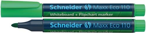 Schneider whiteboard + flipchart marker Maxx Eco110 groen