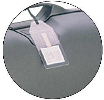 3L bagage-etiketten ft 40 x 165 mm, pak van 4 stuks-2