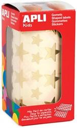 Apli Kids stickers op rol, ster, 2360 stuks, metallic goud