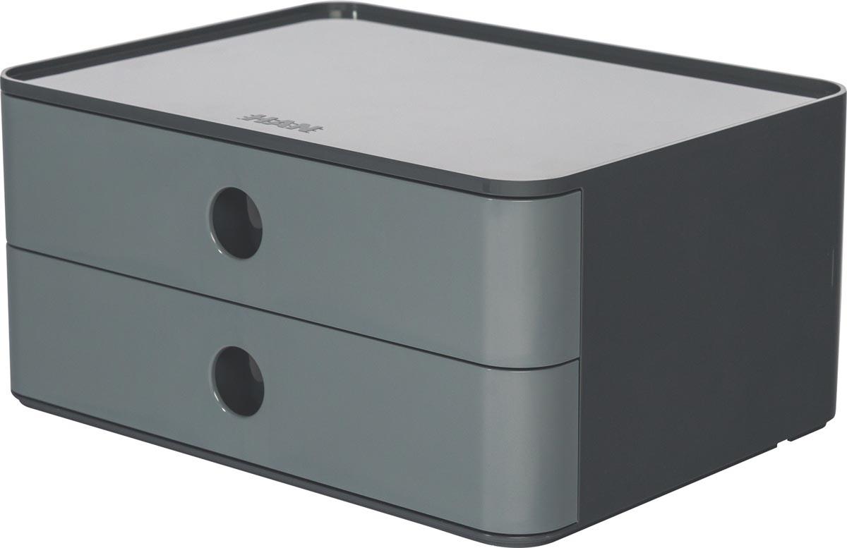 Han ladenblok Allison, smart-box met 2 laden, grijs