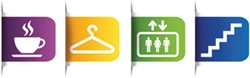 """Office Deco transfer S """"Colorful Signs general"""""""