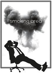 """Office Deco transfer S """"Smoking area"""""""