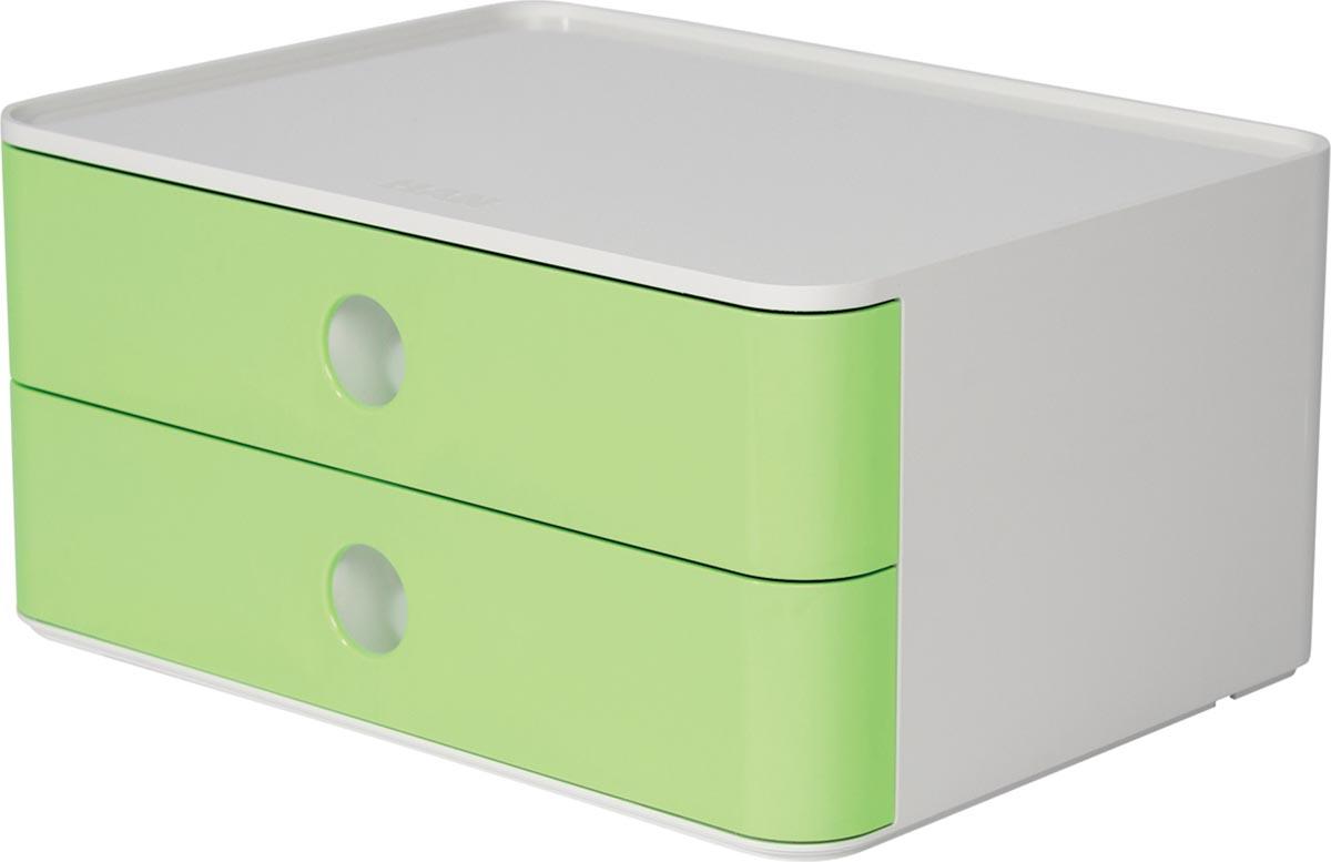 Han ladenblok Allison, smart-box met 2 laden, wit/groen
