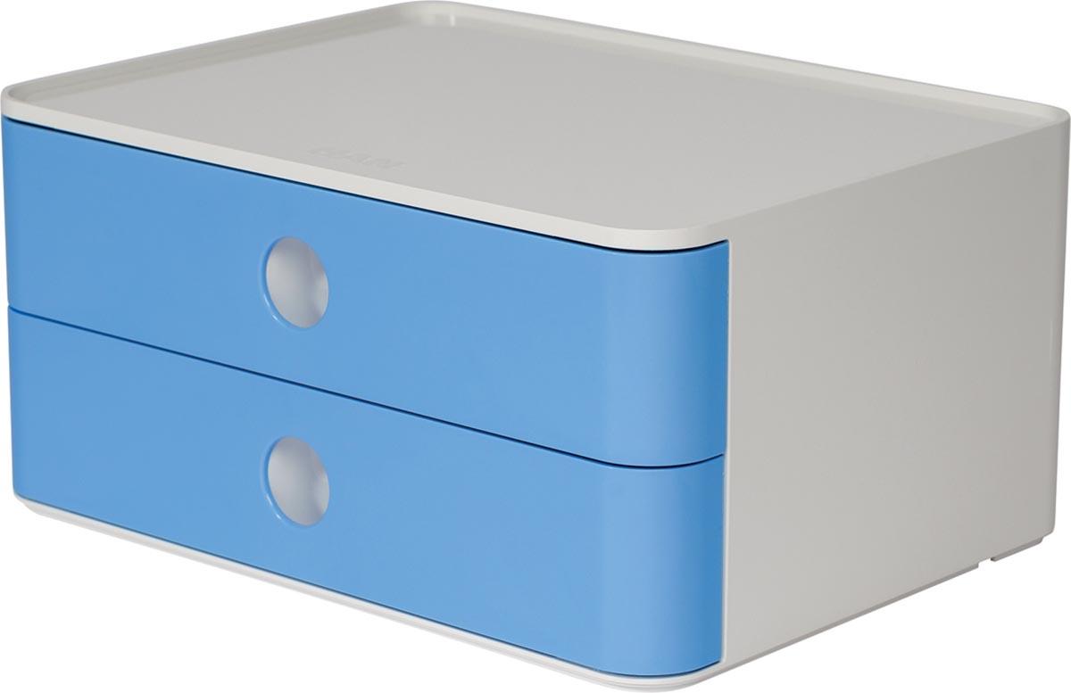 Han ladenblok Allison, smart-box met 2 laden, wit/blauw