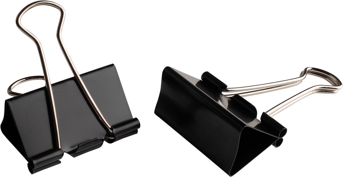 LPC foldbackclip, 41 mm, zwart, doos van 10 stuks