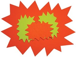Agipa Etiketten in fluokarton ft 24 x 32 cm (sterren)