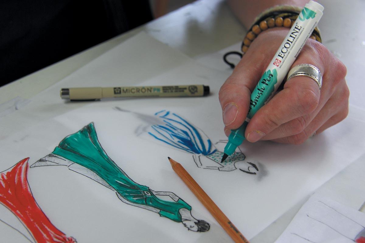 Talens Ecoline Brush pen, etui met 10 stuks in geassorteerde kleuren