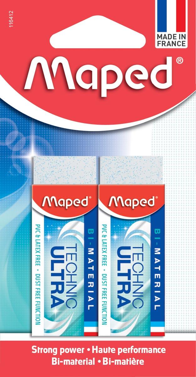Maped gum Technic Ultra Classic, blister met 2 stuks