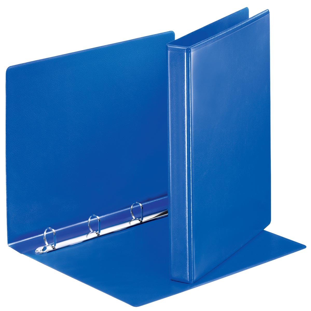 Esselte Personaliseerbare ringmap, rug van 3,8 cm, 4 D-ringen van 20 mm, blauw