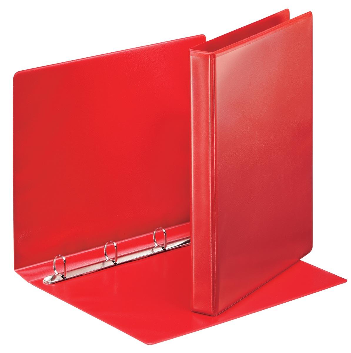Esselte personaliseerbare ringmap, rug van 3,8 cm, 4 D-ringen van 20 mm, rood