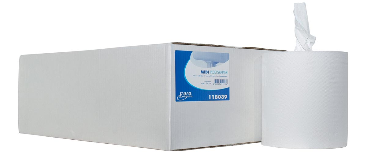 Europroducts handdoekrol Midi, 2-laags, pak van 6 stuks