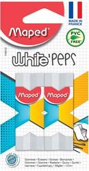 Maped gom White'Peps blister met 2 stuks