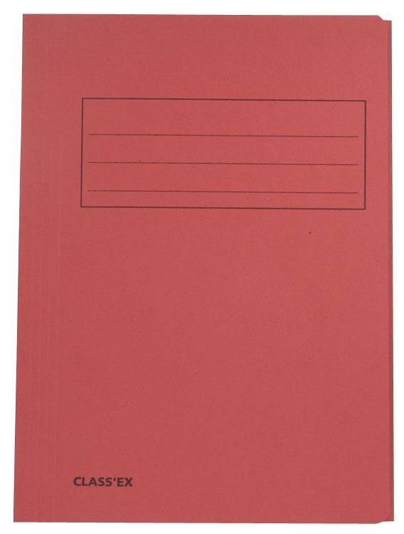 Class'ex dossiermap, 3 kleppen ft 23,7 x 32 cm (voor ft A4), kers