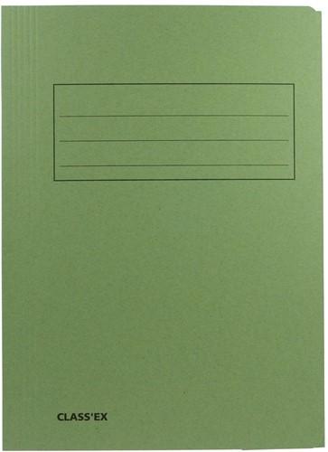 Class'ex dossiermap, 3 kleppen ft 23,7 x 32 cm (voor ft A4), groen