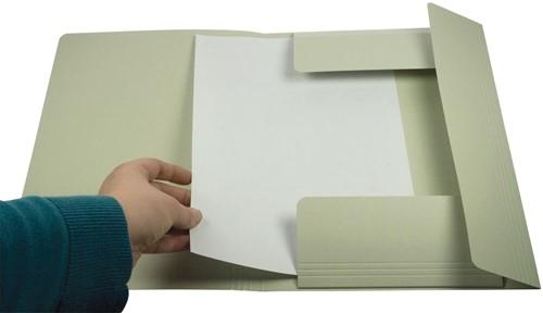 Class'ex dossiermap, 3 kleppen ft 23,7 x 32 cm (voor ft A4), grijs-2
